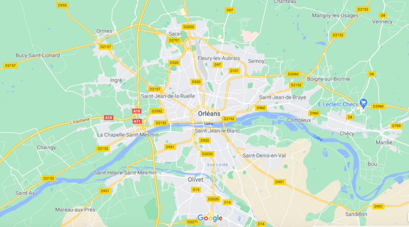 Mapa de Orléans © Google