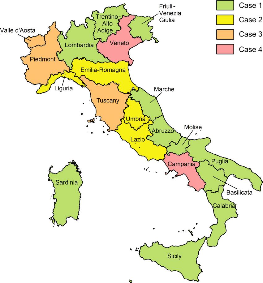 Mapa Regioes de Itália © Research Gate