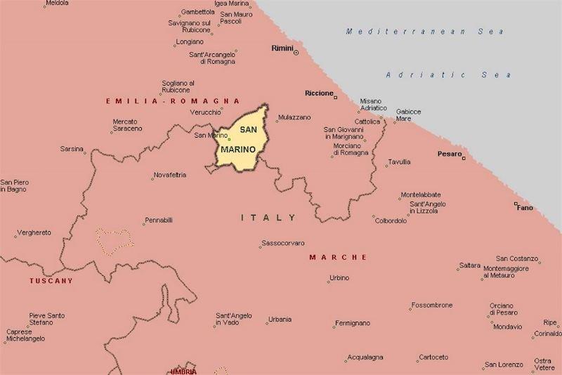 Mapa San Marino © Maps Land