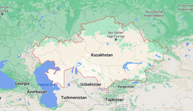 Mapa Cazaquistão © Google