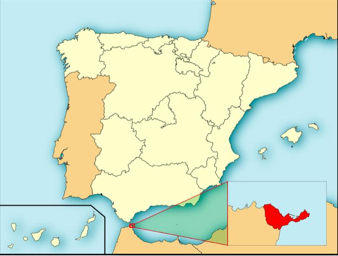 Mapa Ceuta © wikipedia