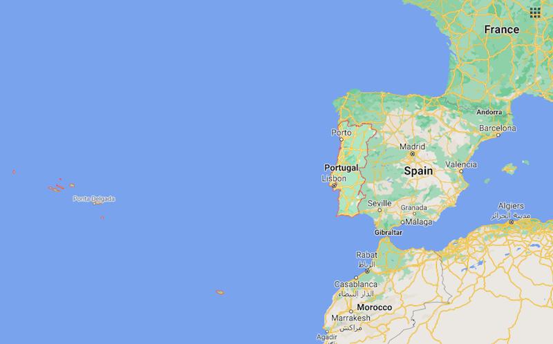 Mapa Portugal © Google