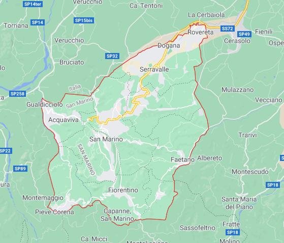Mapa São Marino © Google
