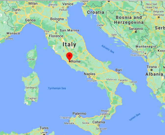 Mapa Vaticano © Google