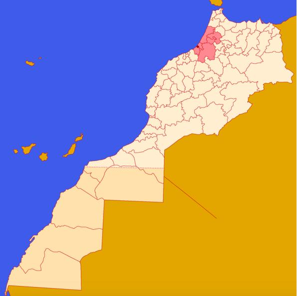 Rabat no Mapa © wikipedia