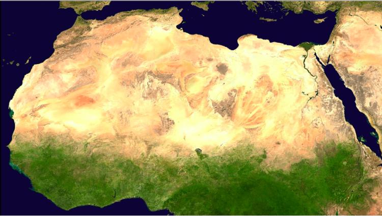 Saara visto do espaço © wikipedia