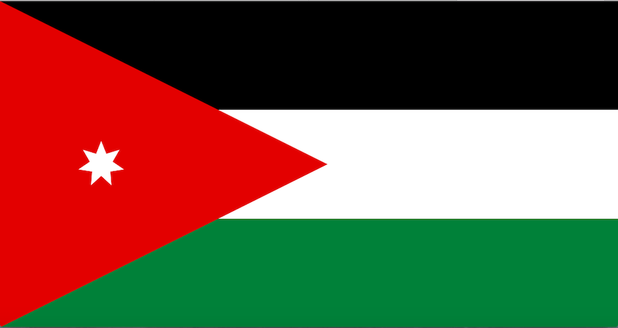 Bandeira da Jordânia © wikipedia