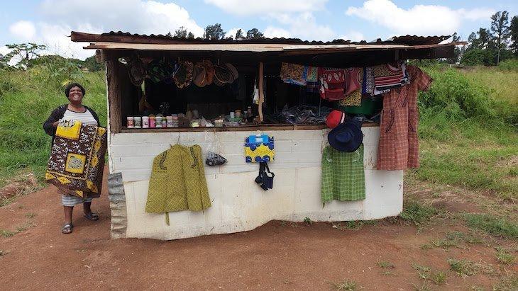 Loja de rua na Suazilândia © Viaje Comigo