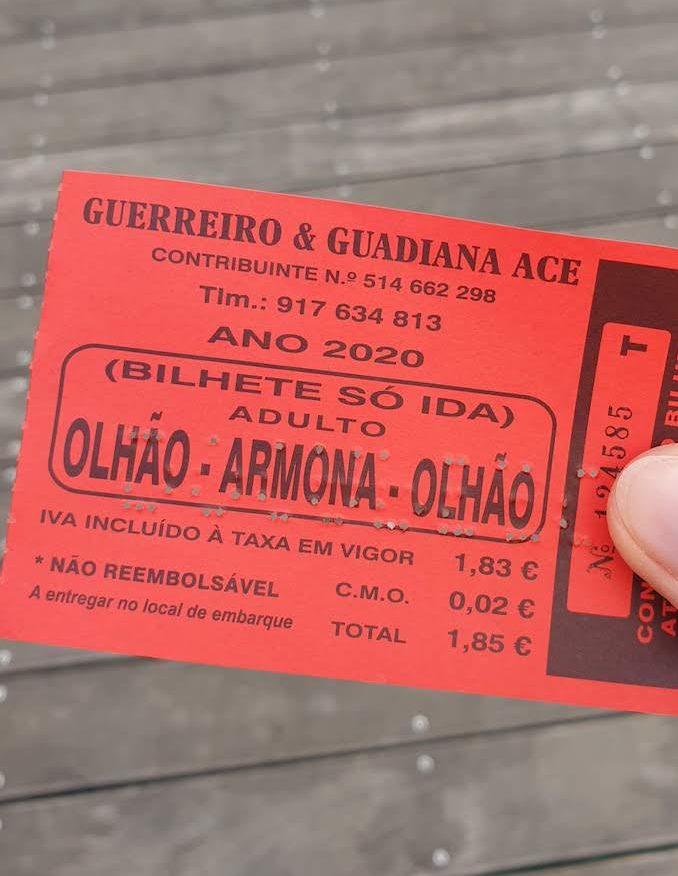 Bilhete para Armona -Olhão - Algarve © Viaje Comigo
