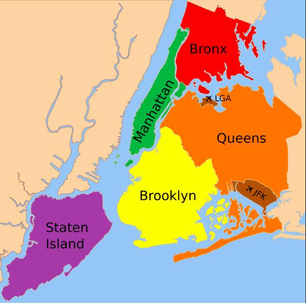 Mapa Burgos de Nova Iorque © wikipedia