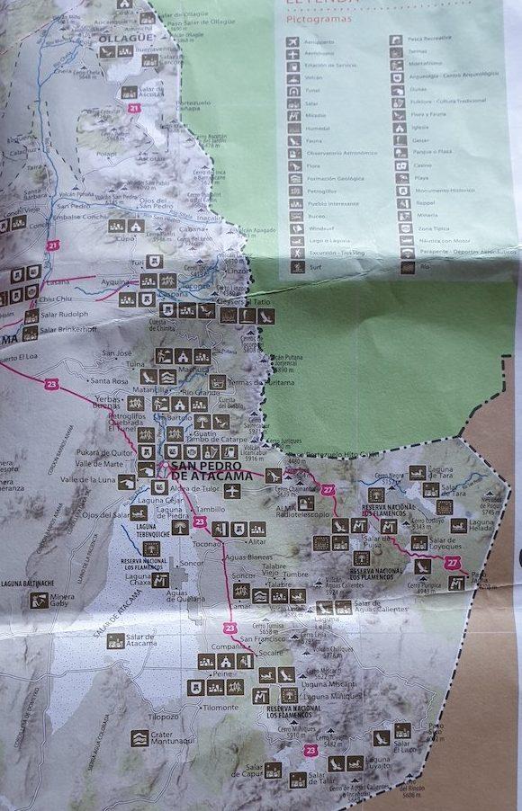 Mapa de Atacama - Chile © Viaje Comigo
