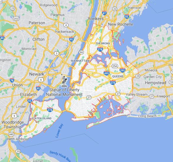 Mapa Nova Iorque © google