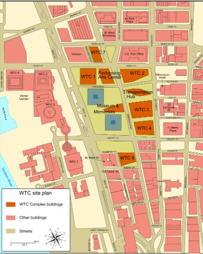 Mapa Reconstruçao World Trade Center © wikipedia