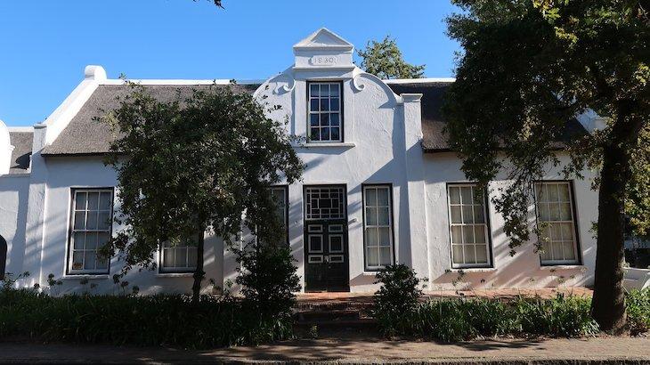 Casa de 1830, Stellenbosch - África do Sul © Viaje Comigo