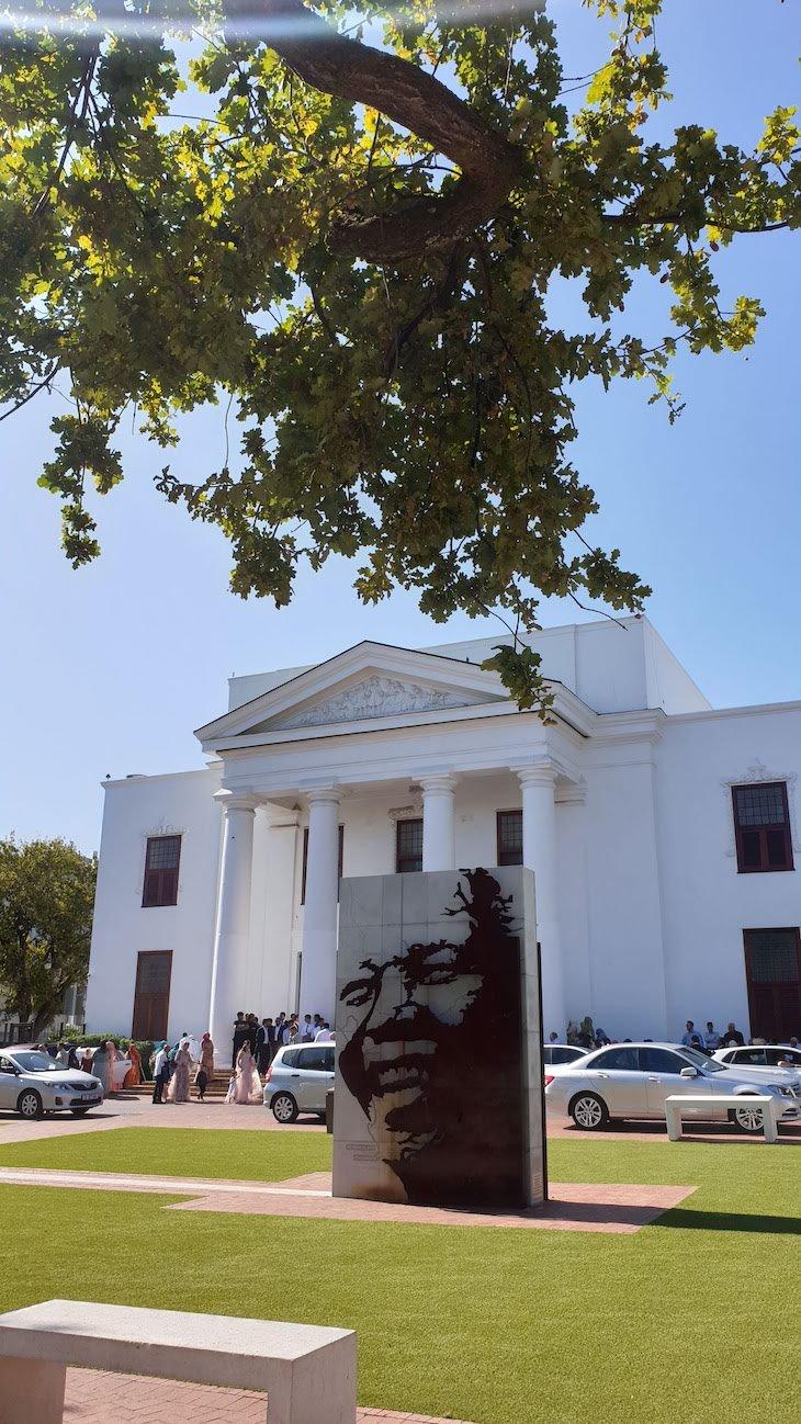 Mandela em Stellenbosch - África do Sul © Viaje Comigo