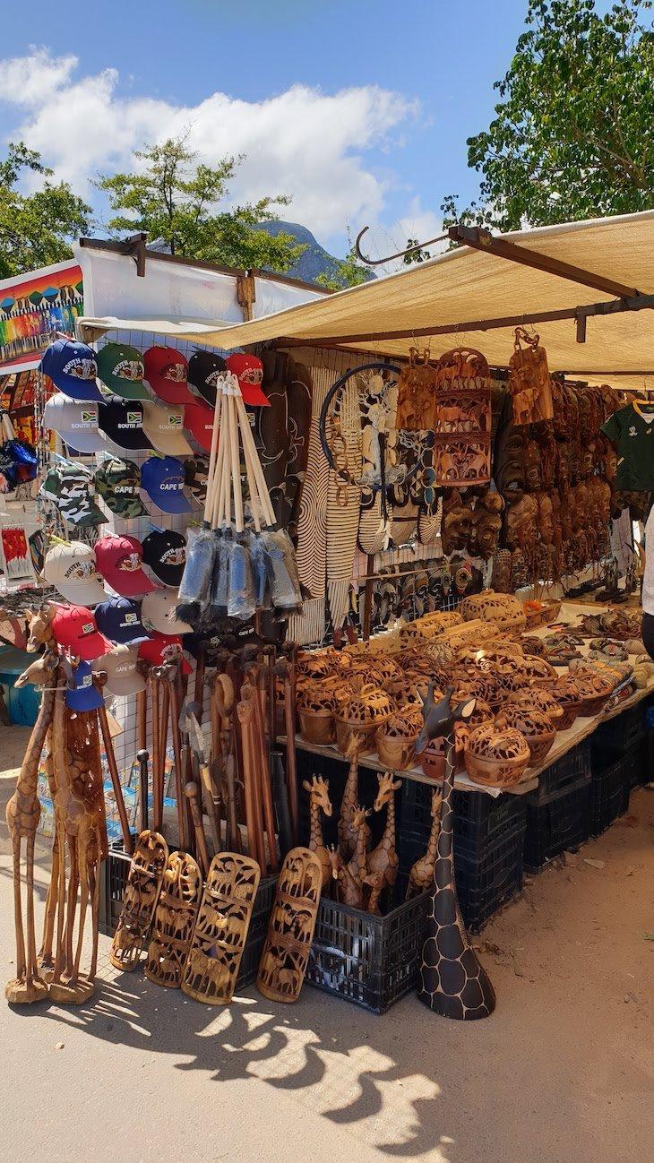 Mercado de artesanato em Franschhoek - África do Sul © Viaje Comigo