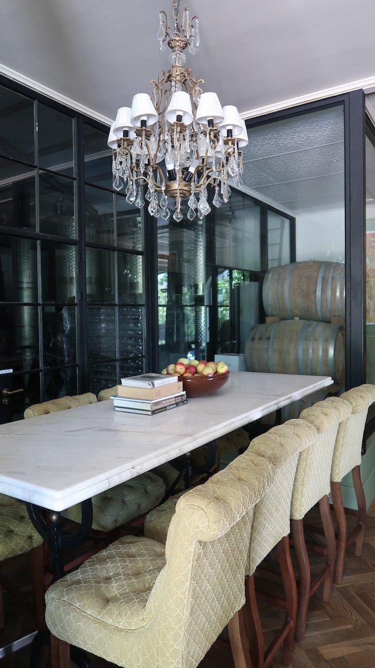 Provas de vinhos no Le Lude, Franschhoek - África do Sul © Viaje Comigo