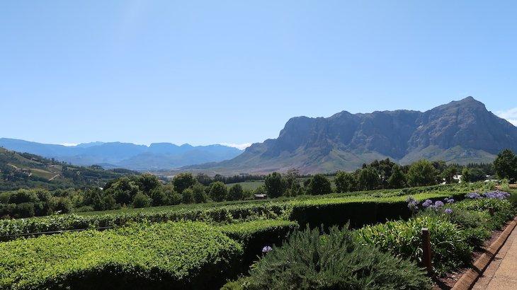 Vista para a montanha, em Franschhoek - África do Sul © Viaje Comigo