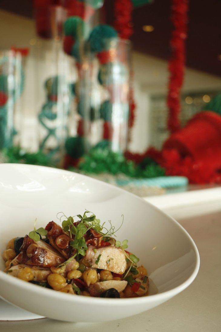 Salada de polvo do Restaurante Porto Novo © Sheraton Porto
