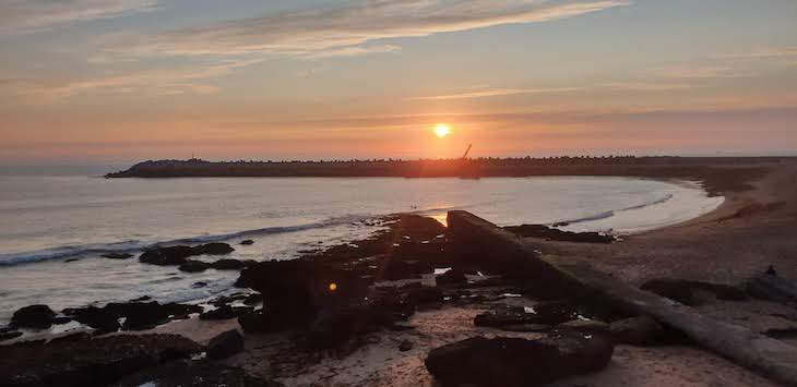 Pôr do sol na Praia dos Pescadores - Ericeira - Portugal © Viaje Comigo