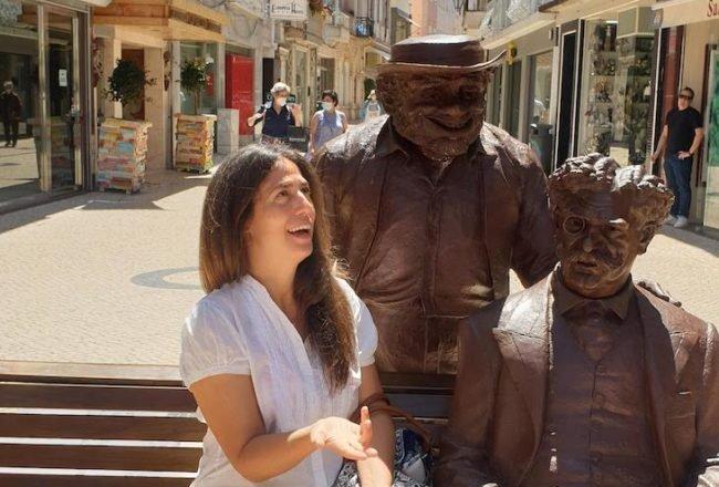 Estátua de Zé Povinho e Bordalo Pinheiro - Caldas da Rainha - Portugal © Viaje Comigo